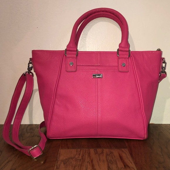 Thirty-One Jewell Handbags - Jewell by Thirty-One Vegan Pebbled Leather Satchel
